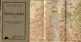 Touring Club Italiano PIANTA DI ROMA, 1:12000, Indice Nomi, Vie, Piazze, Edifici, Linee Tranviarie... Inizi '900 - AM-V - Mappe