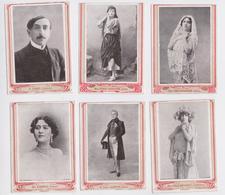 Chromo Artiste Barrès Sarah Bernhardt Calmette Guerrero Arnoldson Cora-Laparcerie Lot De 6 Chromos - Trade Cards