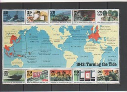 ETATS-UNIS 1993 FEUILLET YT N° 2168 à 2177 Neuf** - United States