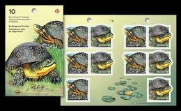 Canada 2019 Mih. 3729/30 Fauna. Endangered Turtles (booklet) MNH ** - Nuevos
