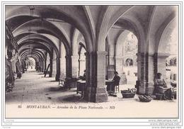 82) Montauban.- Arcades De La Place Nationale - (belle Animation : Jour De Marché) - Montauban