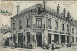 """Vosges : Remiremont, """"Aux Magasins Réunis"""", E. PETIN 11, Faubourg D'Alsace... - Remiremont"""