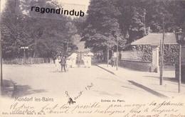 CPA - LUXEMBOURG - MONDORF-LES-BAINS - ENTREE Du PARC -  Edit Nels Série 3 N° 2 - 1903 - Mondorf-les-Bains