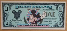Etat-Unis D'Amérique 1 Disney Dollars 1990 Revers Château - Etats-Unis
