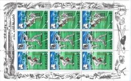 Jamaica,  Scott 2013  # 266-268a,  Issued 1968,  M/S Of 9, MNH,  Cat $ 1.50,  Cricket - Jamaica (1962-...)