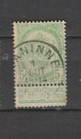 COB 56 Oblitération Centrale NANINNE - 1893-1907 Armoiries