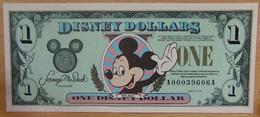Etat-Unis D'Amérique 1 Disney Dollars 1998 Revers Château - Collections