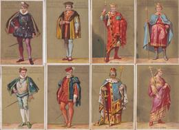 Chromo Chicorée Bergère Emile Bonzel Haubourdin Histoire De France Roi Charlemagne Lafayette Guizot... Lot De 23 Chromos - Andere