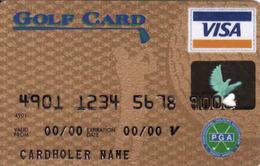 South Africa Bank Card VISA PGS, Golf Magnetic Card - Carte Di Credito (scadenza Min. 10 Anni)