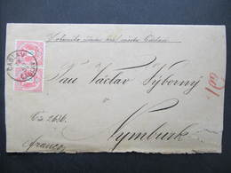 BRIEF Caslau Caslav - Nymburk 1884 Mestska Rada // D*38542 - 1850-1918 Imperium