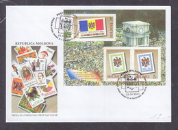 Moldova 1995 Tenth Anniversary Of First Issue Of Moldova's Stamps FDC - Moldavia