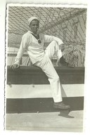 "3870 "" REGIA ACCADEMIA NAVALE-BRIGANTINO ALFREDO CAPPELLINI-MARINAIO-7/4/1935 ""  FOTO ORIGINALE - War, Military"
