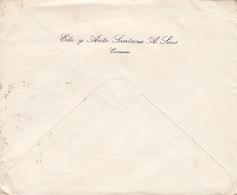 Venezuela EDO. Y ANTO. SANTANA A Sucs. CARACAS 1925 Cover Letra HAMBURG Germany 2x Bolivar Stamps - Venezuela