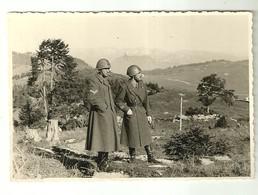 """3873 """" SERGENTE E TENETE D'ARTIGLIERIA - II WW-ALTOPIANO DEL LAVARONE,SULLO SFONDO IL GRUPPO DI BRENTA """" FOTO ORIGINALE - War, Military"""