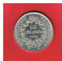 FRANCE - 1965 - 10 FRANCS - HERCULE  - ARGENT - SUPERBE - France