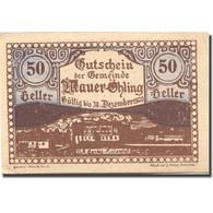 Billet, Autriche, Mauer Ohling, 50 Heller, Village, 1920 SPL Mehl:FS 599e - Autriche