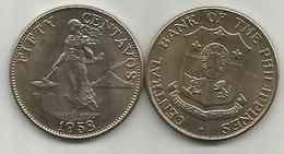 Philippines 50 Centavos 1958. High Grade - Filipinas