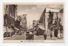 - CPA CASABLANCA (Maroc) - Rue De L'Horloge (belle Animation) - Photo CAP N° 48 - - Casablanca