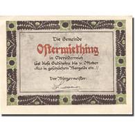 Billet, Autriche, Ostermiething, 40 Heller, Personnage, 1920 SPL Mehl:FS 713Ij - Autriche