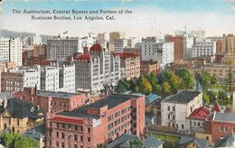 The Auditorium, Central Square And Portion Of The Business Section, Los Angeles, CA - Hecht's Quality Card - Los Angeles