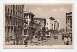- CPA CASABLANCA (Maroc) - Avenue De La Gare (belle Animation) - Photo CAP N° 47 - - Casablanca