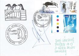Australia Antarctic Territory AAT 2013 Casey Research Expedition Seal Pinguin Signed Cover - Australian Antarctic Territory (AAT)