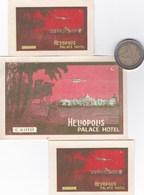 3 Etiquettes HELIOPOLIS PALACE HOTEL CAIRO - Etiquettes D'hotels