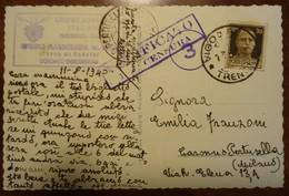 Rifugio Marmolada - Fedaia - Dolomiti - 1940 - Timbro CAI - Censura - Fotografica - Italie