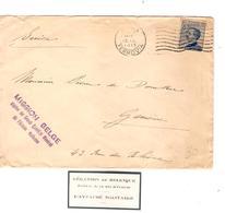 PR6526/ TP 25 C.s/L.Mission Belge Auprès Du Grand Quartier Général De L'Armée Italienne C.Roma 1915 V.Suisse - Guerra '14-'18