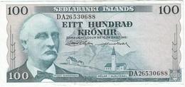 Islandia - Iceland 100 Kronur 29-3-1961 Pk 44 A.7 Firmas D. Olafsson Y J. Nordal Ref 2 - Iceland