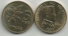Philippines 5 Piso 1991. High Grade - Filippine