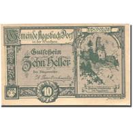 Billet, Autriche, Aggsbach Dorf, 10 Heller, Château, 1920 SPL Mehl:FS 8 - Autriche
