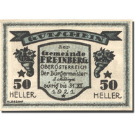 Billet, Allemagne, Freinberg, 50 Heller, Personnage, 1921 SPL Mehl:FS 211IIa - Autriche