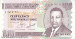 TWN - BURUNDI 44b - 100 Francs 1.9.2011 Prefix QC UNC - Burundi