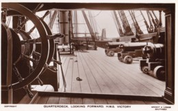 AM10 Quarterdeck, Looking Forward, H.M.S. Victory - RPPC - Portsmouth