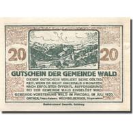 Billet, Autriche, Wald, 20 Heller, Montagne, 1920, SPL, Mehl:FS 1129Ia - Autriche