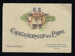 """étiquette Vin  Chateauneuf Du Pape  Régis Avril Propriètaire """"templiers"""" - Côtes Du Rhône"""