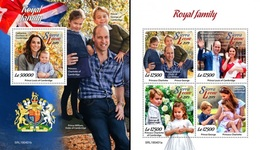 Sierra Leone 2019, English Royal Family, 4val In BF +BF - Sierra Leone (1961-...)