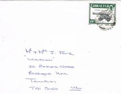 31836. Carta GIBRALTAR 1986. Field Post Office BPO 123. Military Post - Gibraltar