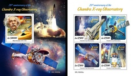 Sierra Leone 2019, Space, Chandra X Ray Observatory, 4val In BF +BF - Sierra Leone (1961-...)