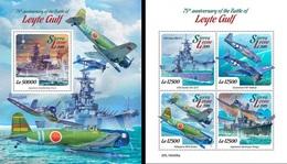 Sierra Leone 2019, WWII, Battle Of Leyte Gulf, 4val In BF +BF - Sierra Leone (1961-...)