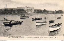 D33  ARCACHON  Le Bassin à Marrée Haute Devant Le Grand- Hôtel  ..... - Arcachon