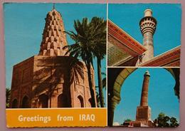 IRAQ / IRAK - Mosul, Baghdad - Greetings From Iraq - Kadhimain Mosque - Tomb Of Zubaida Baghdad, Famous Minaret, Mosul - Iraq