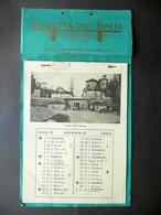 Calendario 1933 Gazzetta Dell'Emilia Modena 12 Vedute Città Porte Mura - Calendari