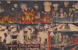 AQ30 Chen's Singapore Restaurant, Broadway, New York City - Linen - Hotels & Restaurants