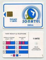 Télécarte Sénégalaise SONATEL 11 Unités. Sénégal Senegal. West Africa. Phonecard. Telefonkarte. Telefonkort. Telekarte - Senegal
