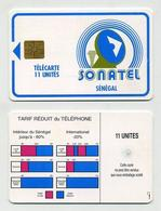 Télécarte Sénégalaise SONATEL 11 Unités. Sénégal Senegal. West Africa. Phonecard. Telefonkarte. Telefonkort. Telekarte - Sénégal