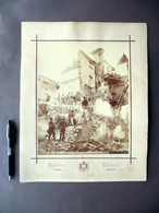 Grande Fotografia Diano Marina Terremoto 1887 Casa Demaestri Bernardo Biella - Foto