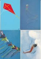 AQ30 5 Postcards Depicting Kites - Jeux Et Jouets