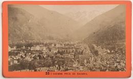 3 CDV. Luchon Pris De Cazaril. Montagne. Chute De La Pique. Cascade D'enfer. Photographe E. Soulé à Luchon. - Anciennes (Av. 1900)